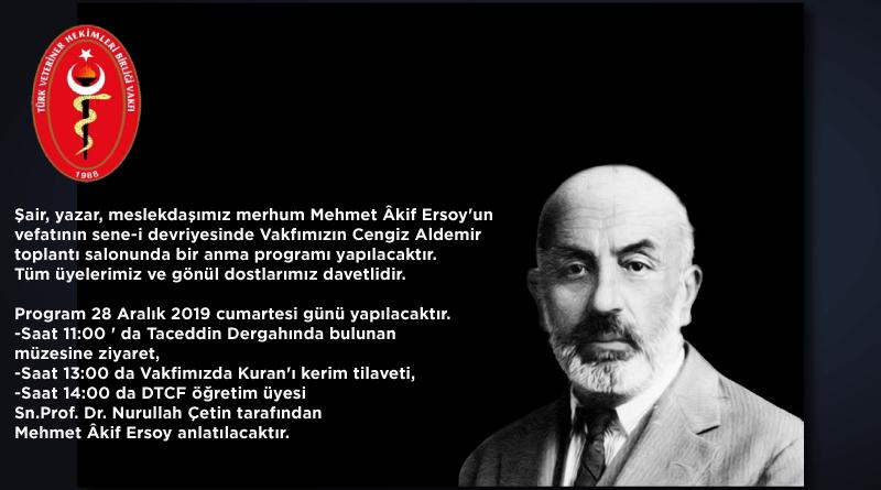 Mehmet Âkif Ersoy Anma Programı