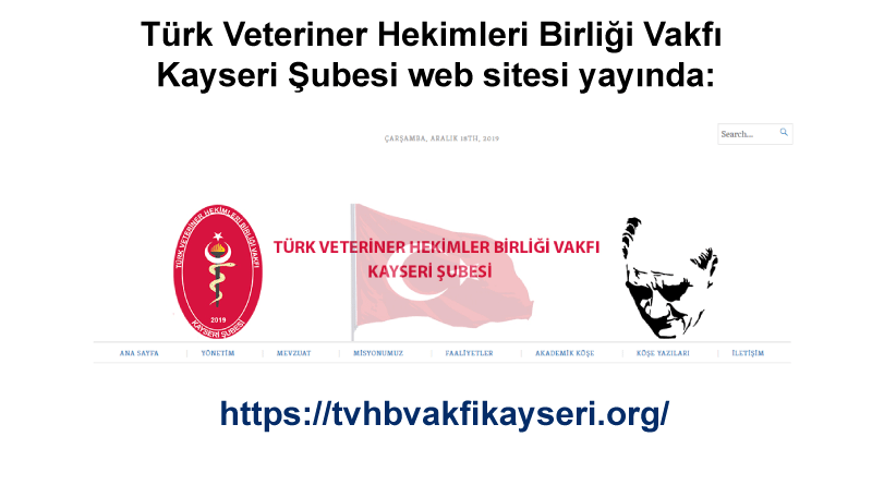 Türk Veteriner Hekimleri Birliği Vakfı Kayseri Şubesi web sitesi